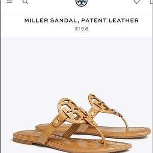 Like New Tory Burch Miller Sandal In Sand Size 9